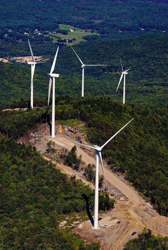 Iberdrola turbines on Tenney Mountain, NH